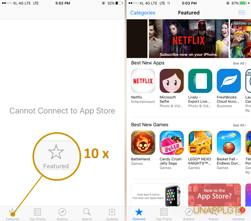 Tips sederhana refresh App Store