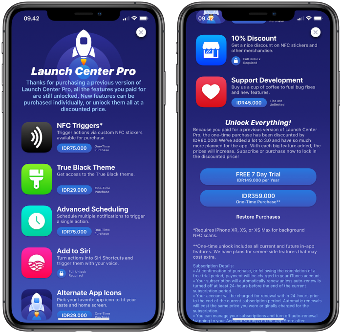 Launch Center Pro 3.0